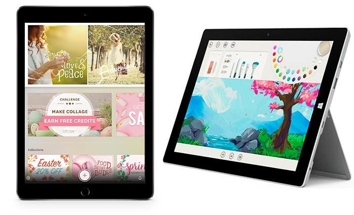 iPad Air 2 de Apple y Surface 3 de Microsoft