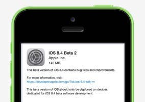 Pantalla de descarga de iOS 8.4 beta 2