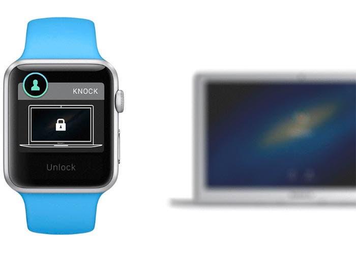 Knock desbloqueando un Mac desde el Apple Watch