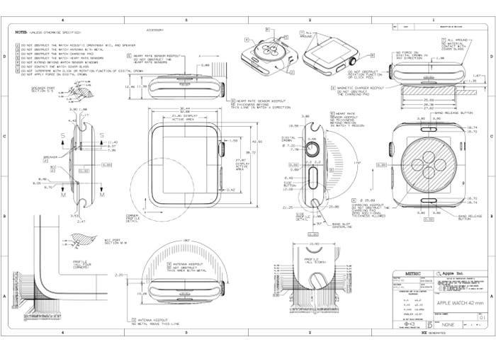 Guías para terceros fabricantes de accesorios para el Apple Watch