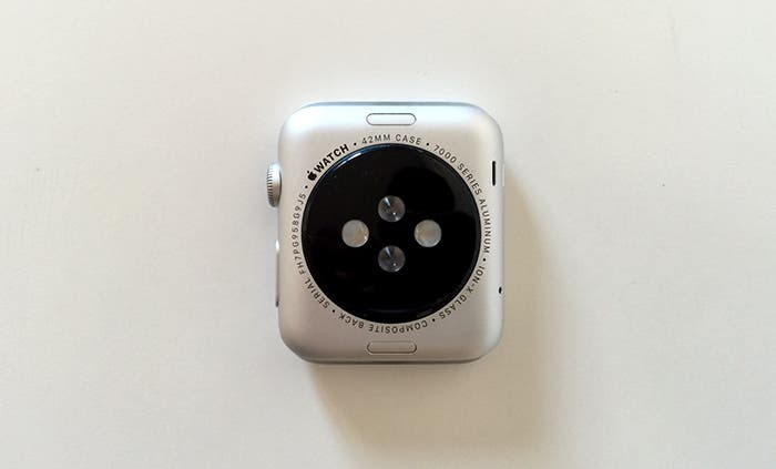 Sensor y parte trasera Apple Watch Sport