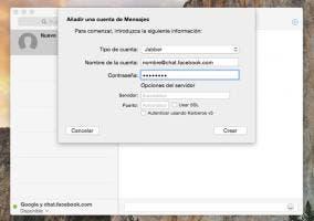 Configurando Facebook Messenger en la app de Mensajes