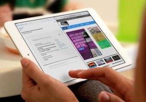 iPad con pantalla dividida en iOS 9