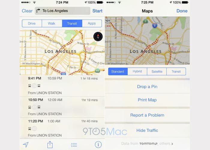 Mapas de iOS 9