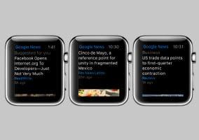 Noticias y tiempo en Apple Watch