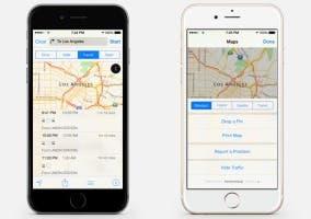 Indicaciones del transporte público en Mapas de iOS 9