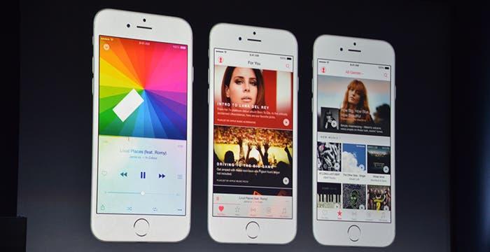 Apple Music capturas de pantalla