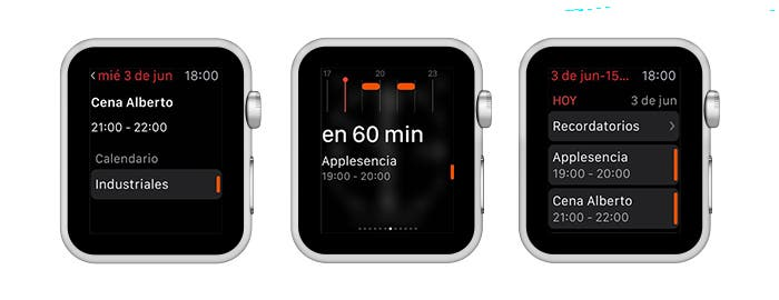 Apple Watch capturas Fantastical 2