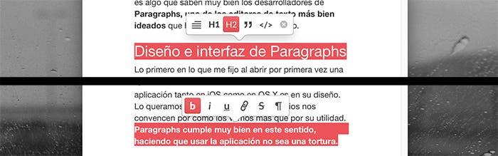 Formato en Paragraphs