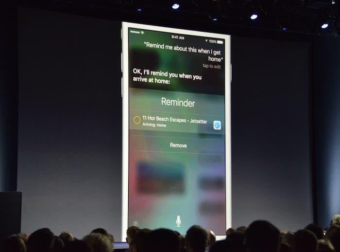 Siri iOS 9 interfaz