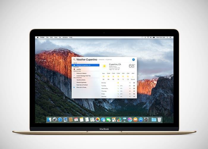 Spotlight en OS X El Capitan