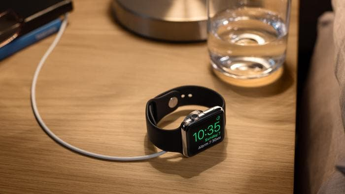 Apple Watch en modo horizontal