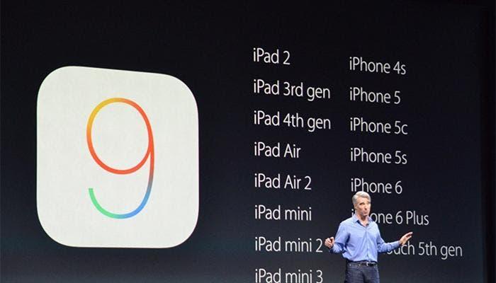 iOS 9 dispositivos compatibles