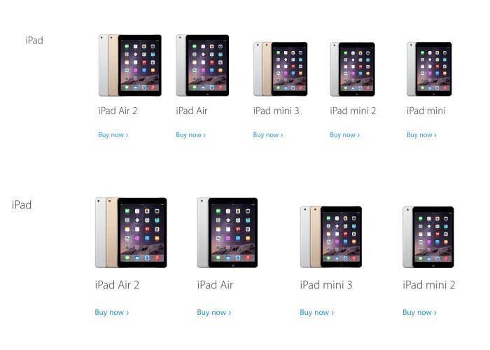 El iPad mini desaparece de la Apple Store