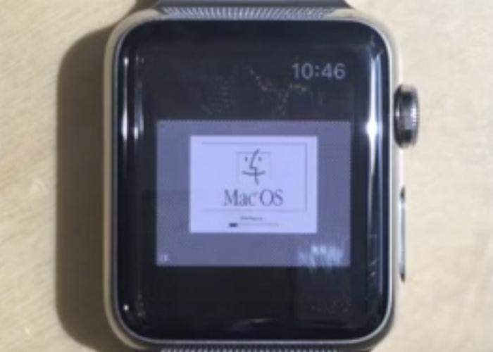 Mac OS cargado en el Apple Watch