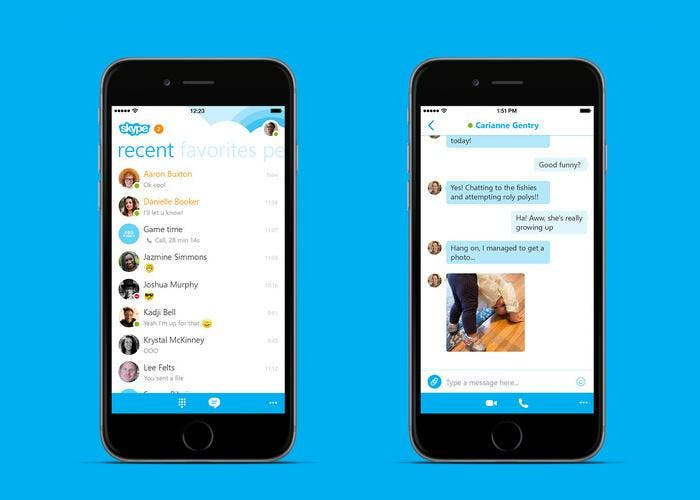 Skype en el iPhone 6