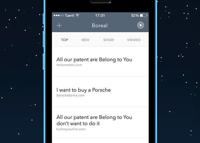 Boreal para iOS