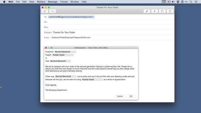 TextExpander detalle de funcionamiento