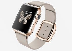 Apple Watch con carcasa y hebilla dorados