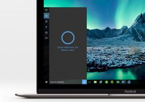 Cortana funcionando en un MacBook