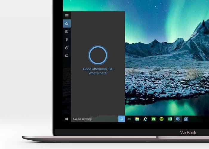 Cortana funcionando en un MacBook