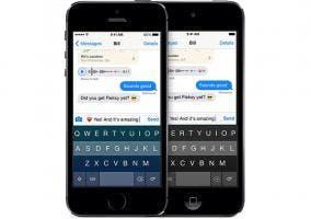 Capturas de Fleksy Keyboard para iOS