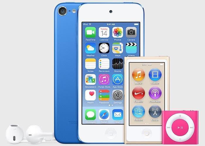 Nuevos colores para la familia actual de iPod