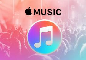 Logo del servicio de Apple Music