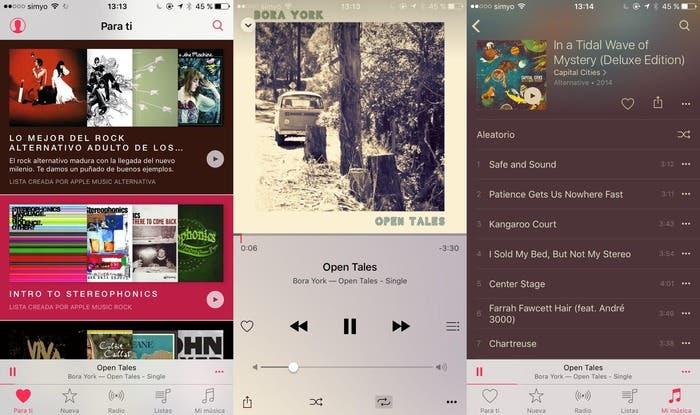 Captura de monitor de Apple™ Music redim