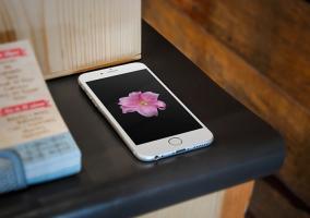 Fondo flor en un iPhone 6