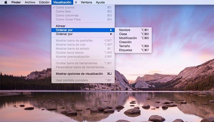 Ordenar archivos en Mac