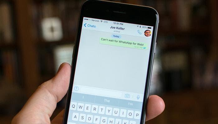 WhatsApp en iPhone 6