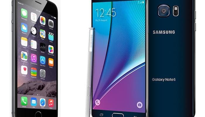 iPhone 6 Plus y Samsung Galaxy Note 5: cara a cara