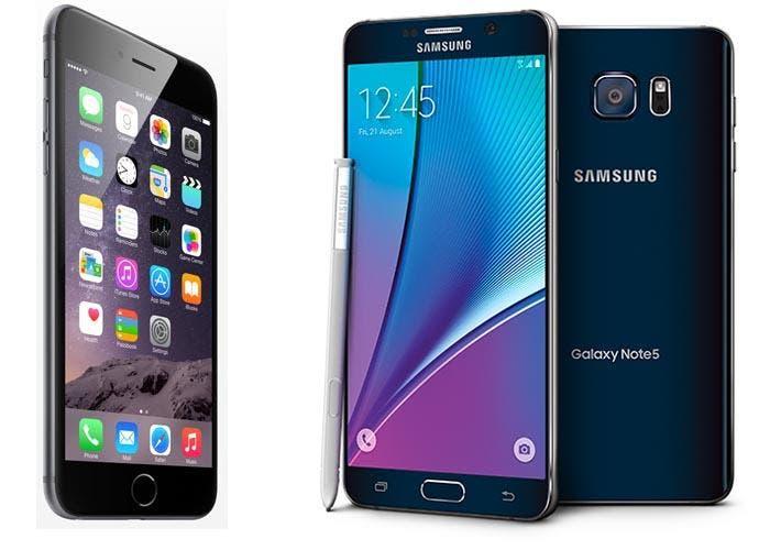 iPhone 6 Plus y Samsung Galaxy Note 5: cara a cara