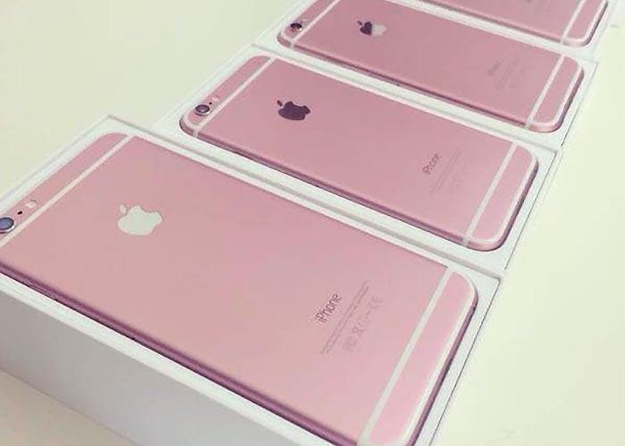 Ristra de iPhone 6s en color rosa
