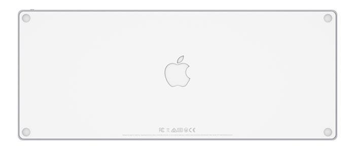 Vista trasera del nuevo Apple Keyboard