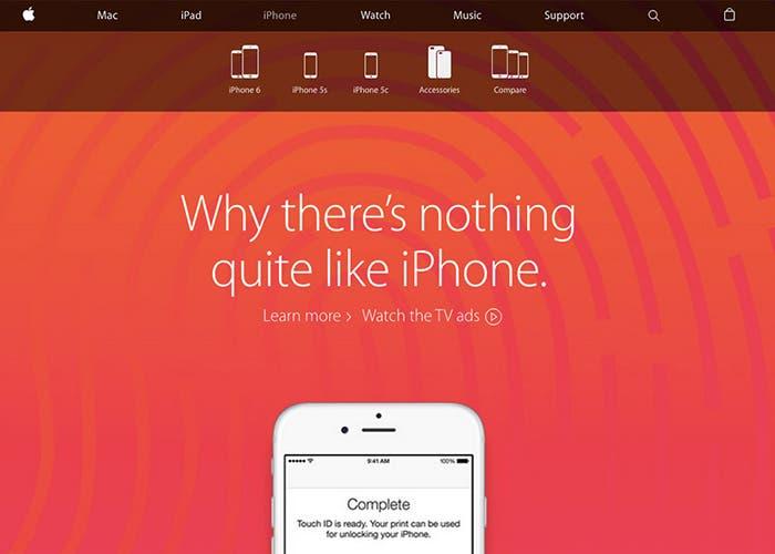 Nuevo diseño web de Apple