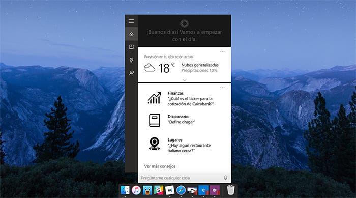 Cortana en OS X