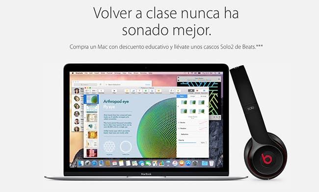 Promoción Vuelta al Cole de Apple