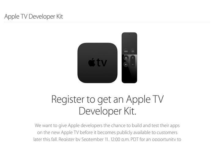 Kit de desarrollo para el Apple TV