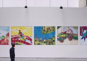 Ilustraciones de la Apple Store de Bruselas