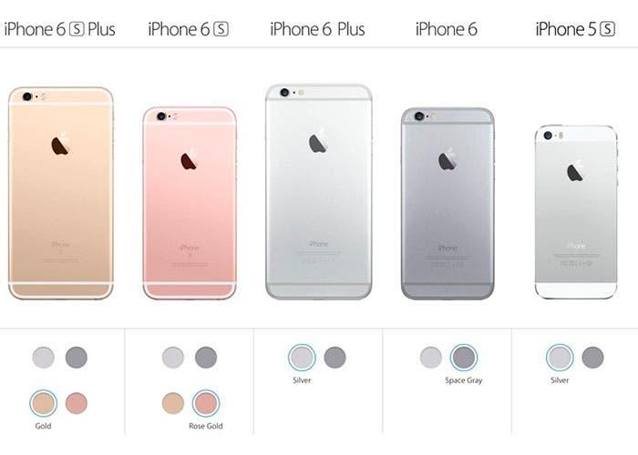 modelos disponibles venta iphone septiembre 2015
