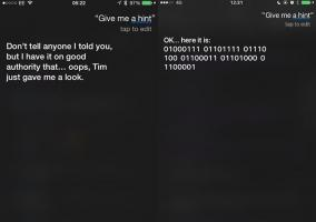 Pistas de Siri para la keynote