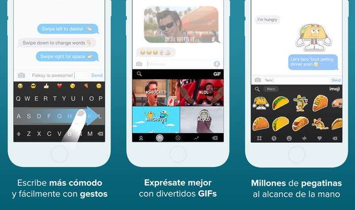 Fleksy iOS capturas