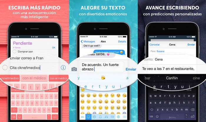 Swiftkey iOS capturas