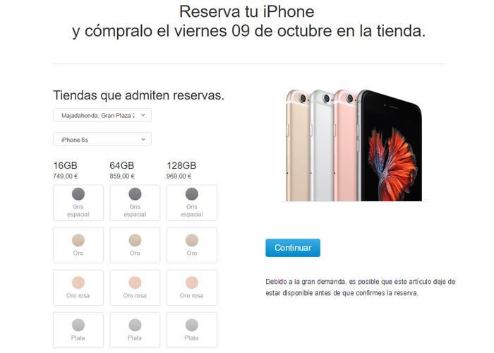 Reserva iPhone 6s