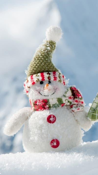 Christmas snowman iphone 6 plus wallpaper