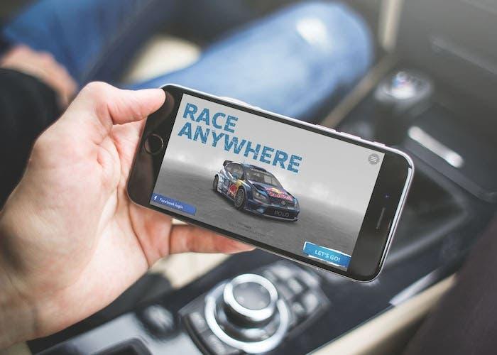 VW race anywhere iPhone
