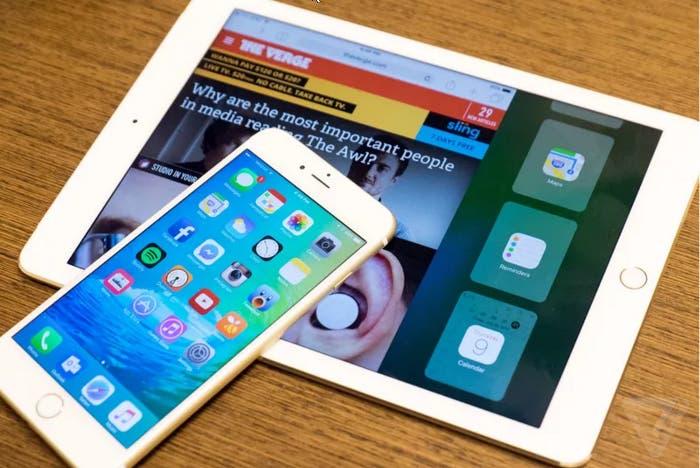 iPad Pro y iPhone