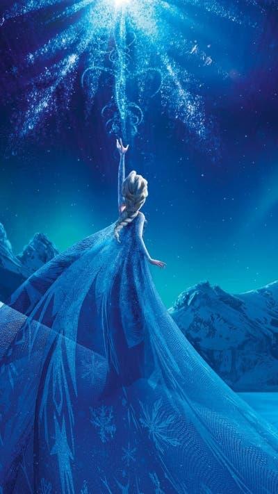magical frozen queen elsa iphone 6 plus wallpaper - 2014 halloween snowflake dress frozen world-f17698